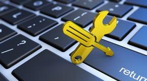 Pomocy Komputerowej usługa Toolkit ikona ilustracji