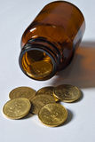pomocy kosztu pieniężni zdrowie Zdjęcia Stock