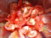 Pomodori affettati freschi Fotografia Stock Libera da Diritti