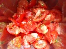 Pomodori affettati freschi Immagine Stock