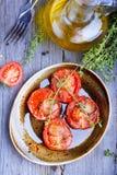Pomodori al forno Fotografie Stock