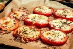 Pomodori al forno Fotografie Stock Libere da Diritti