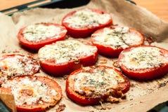 Pomodori al forno immagini stock