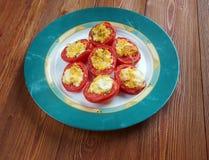 Pomodori alforno Arkivfoto