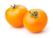 Pomodori arancioni Immagini Stock