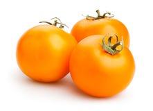 Pomodori arancioni Fotografia Stock Libera da Diritti