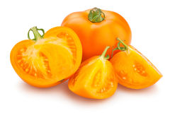 Pomodori arancioni Fotografia Stock