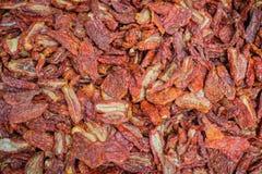 Pomodori asciutti Fotografie Stock