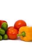 Pomodori, cetrioli e pepe freschi Fotografia Stock Libera da Diritti