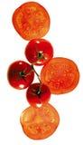 Pomodori che compongono Fotografie Stock