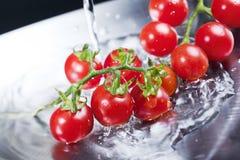 Pomodori ciliegia Immagini Stock Libere da Diritti