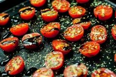 Pomodori ciliegia al forno Immagine Stock Libera da Diritti