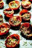 Pomodori ciliegia al forno Immagini Stock Libere da Diritti