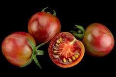 Pomodori ciliegia di Brown su bianco Fotografia Stock Libera da Diritti