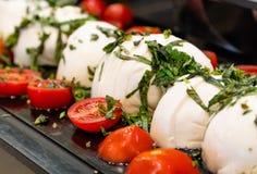 Pomodori con formaggio Fotografia Stock