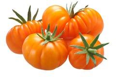 Pomodori costolati gialli, percorsi Immagini Stock Libere da Diritti
