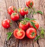 Pomodori, cucinati con le erbe per la conservazione Fotografia Stock Libera da Diritti