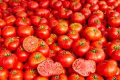 Pomodori dal Mediterraneo impilati Fotografia Stock