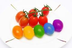 Pomodori del bambino del Rainbow Fotografia Stock