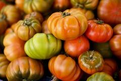 Pomodori del mercato dei coltivatori Fotografie Stock Libere da Diritti