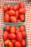 Pomodori del mercato dei coltivatori fotografie stock