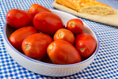 Pomodori del San Marzano Immagine Stock