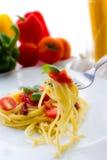 Pomodori dell'italiano della pasta immagini stock libere da diritti