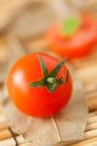 Pomodori di ciliegia freschi Fotografie Stock