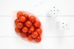 Pomodori di ciliegia maturi freschi Fotografie Stock