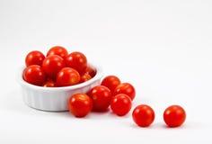 Pomodori di ciliegia rossi Fotografie Stock