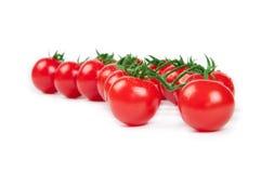 Pomodori di ciliegia rossi freschi Fotografie Stock