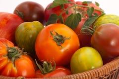 Pomodori di Heirloom immagini stock libere da diritti