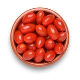 Pomodori di prugna del bambino immagini stock libere da diritti
