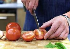 Pomodori di taglio Immagine Stock Libera da Diritti