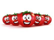 Pomodori divertenti del fumetto Fotografia Stock Libera da Diritti