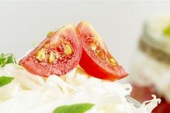 Pomodori e cavolo con la menta fotografie stock libere da diritti