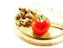 Pomodori e fungo Immagini Stock