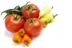 Pomodori e peperoni freschi Immagine Stock Libera da Diritti