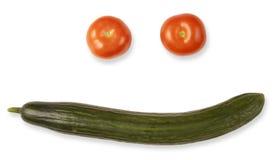 Pomodori e verdure del cetriolo Fotografie Stock