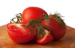 Pomodori ed aneto Fotografie Stock Libere da Diritti