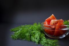 Pomodori ed aneto verde Fotografia Stock Libera da Diritti