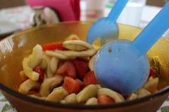 Pomodori ed insalata dei cetrioli Fotografia Stock Libera da Diritti