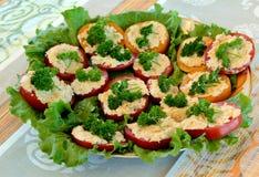 Pomodori farciti Immagine Stock