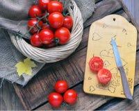 Pomodori freschi, frutta fresca e verdure Fotografia Stock Libera da Diritti
