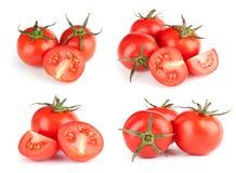 Pomodori freschi impostati Fotografia Stock Libera da Diritti