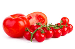 Pomodori freschi maturi Immagini Stock