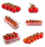 Pomodori freschi messi Immagine Stock Libera da Diritti