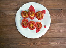 Pomodori gratinati alla pugliese Stock Images
