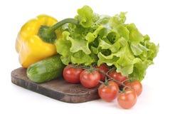 Pomodori, insalata e paprica di ciliegia fotografia stock libera da diritti