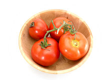 Pomodori isolati Fotografie Stock